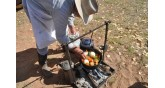 camping-cooking on fire